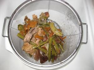 Vegetable Scraps and Bones after Straining