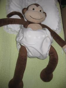 Monkey with Cloth Diaper