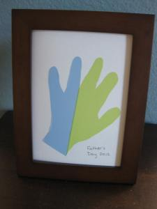 Finished Father's Day Hand Print Craft