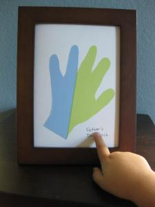 Father's Day Hand Print Craft with Monkey