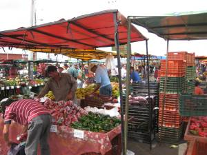 Vendor's stall farmer's market Costa Rica - Feria