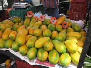 Papayas Feria Costa Rica