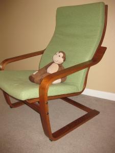 Nursing chair with monkey - Alldonemonkey.com