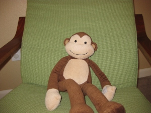 Nursing chair with monkey - Alldonemonkey.com