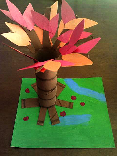 fall tree craft guest post on b inspired mama all