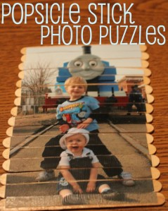 Popsicle Stick Photo Puzzles - Mom Endeavors - Quiet Time Roundup on Alldonemonkey.com