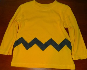 Easy No-Sew Charlie Brown Costume - Alldonemonkey.com