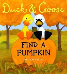 Duck and Goose Find A Pumpkin - Alldonemonkey.com