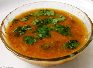 Spicy Lentil and Tamarind Soup - Foodomania