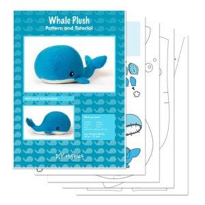 whale pattern 1 - DIY Fluffies - Pinterest Scavenger Hunt Alldonemonkey.com